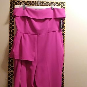 NEW YORK & COMPANY JUMPSUIT, STRAPLESS, SIZE XL